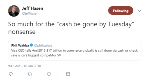 Cashless Comment Jeff Hasen