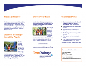 Chad Thiele's InDesign Team Challenge Brochure Back