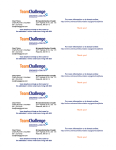 Chad Thiele's Business Cards Team Challenge