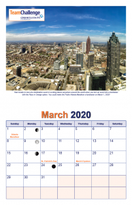 Chad Thiele's Team Challenge Calendar 2020 Mar