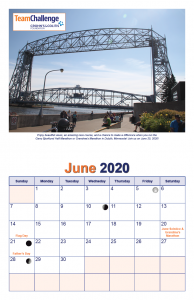 Chad Thiele's Team Challenge Calendar 2020 June