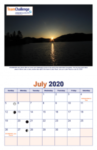 Chad Thiele's Team Challenge Calendar 2020 July