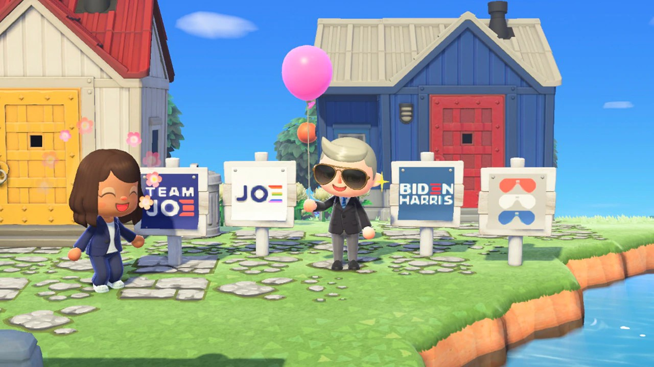 Biden Harris Signs Animal Crossing